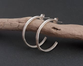 Mara Hoop Earrings - Sterling Silver