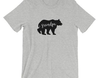 Grandpa bear shirt etsy grandpa bear gift for new grandpa grandparents reveal baby shower gift short sleeve unisex t publicscrutiny Image collections