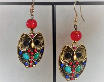 """Owl Earrings """"Duchess"""""""