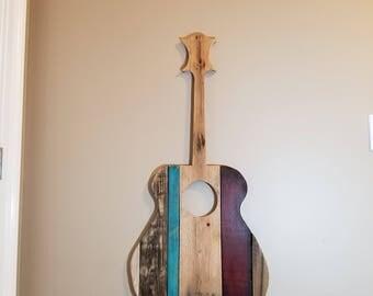 Pallet wood guitar