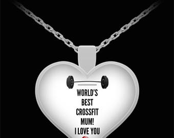 WORLD'S BEST Crossfit Mum! Silver Plated Necklace