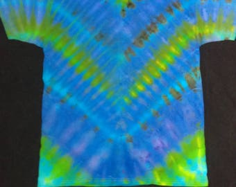 Large Crew Neck Tie-Dyed T-shirt