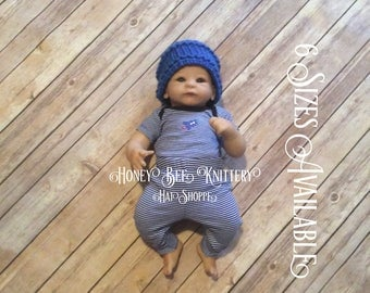 Basket Weave Hat - 6 Sizes Available; Kentucky, blue   ***READY TO SHIP***