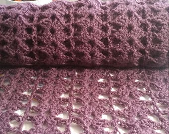Purple Lacy Scarf