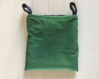 Sugar Glider Pouch - Cage Pouch - Sleeping Pouch - Rat Pouch - Green And Black