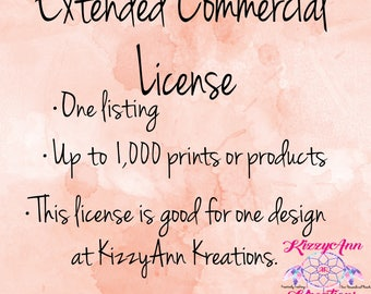 Extended Commercial License, Svg File License, Commerical, JPEG, Extended