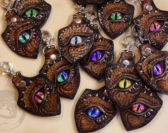 """Leather Keychain """"Dragon Eye"""""""