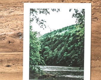 8x10 Print of Susquehanna River with white border