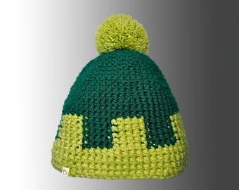 Handmade Custom Crochet Winter Bobble Hat Bespoke Pompom Hat
