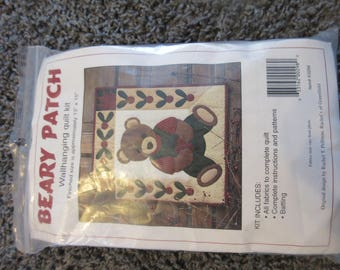 wallhanging Quilt Kit Beary Patch