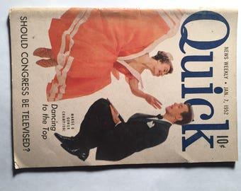 Quick Magazine News Weekly January 7, 1952