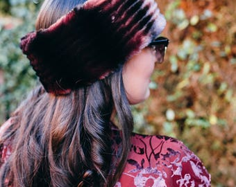 Plum Faux Fur Headband