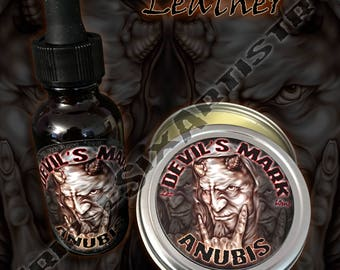 Devil's Mark Anubis Beard Oil Beard Balm Leather