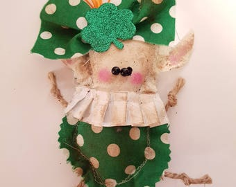 "Grungy Leprechaun ""Loraine"" A Rag Doll made with love"