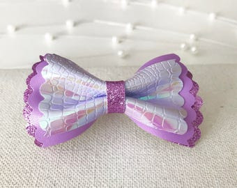 Purple, Purple, Purple!||Bow On Clip||Baby||Toddler||Woman