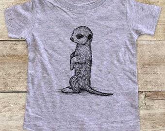 Meerkat graphic Zoo animal wild kingdom Shirt - Baby bodysuit Toddler youth Shirt cute birthday baby shower gift