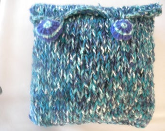 Funky Knitted chunky Cushion Cover