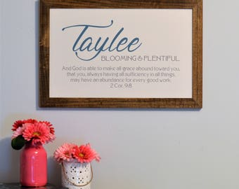 Baby name meaning etsy personalized baby name meaning framed sign l customized nursery wall art l new baby l baby negle Image collections