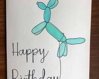 Balloon Animal Birthday Card