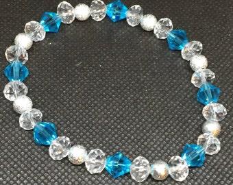 Crystal Sky Blue & Silver Bracelet