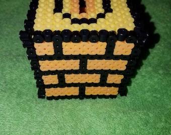 Perler bead piggy bank