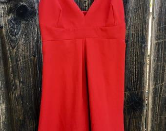 90s Rampage Red Spaghetti Strap Dress