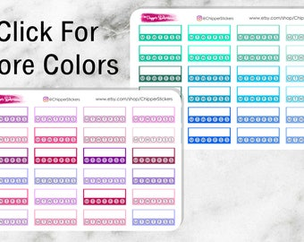 Multiple Colored Habit Trackers for all Planners