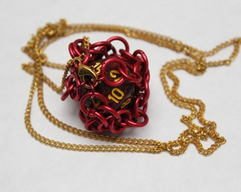 Chainmaille Dice Necklace
