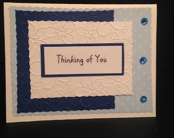 Blue Thinking of you card