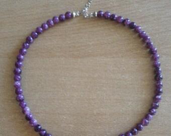 Handmade,Purple stylish necklace