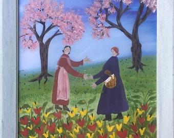Painting by Barbara Strawser, Original Folk Painting 'Strawser Art' Folk Art
