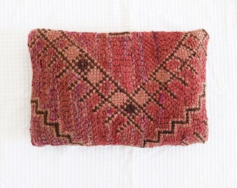 Blossom Vintage Moroccan Pillow Cushion Cover Boujaad Kilim