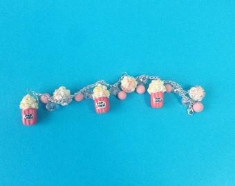 Popcorn bracelet, kawaii popcorn, bracelet popcorn, handmade bracelet, original gift, gift for her, cute, creative bracelet