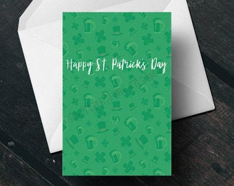 St. Patrick's Day Card - Instant Download