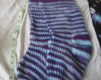 Purple & light blue slippers