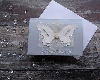 Handmade Wedding card, Congratulations on your Wedding Day