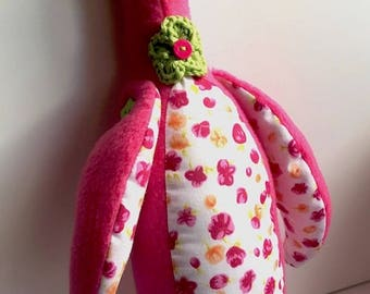 Poppy the Pink Seagull – Handmade Plushie Soft Toy- UNIQUE