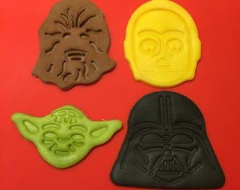 Star Wars decorations for cakes and cupcakes