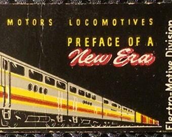 RARE General Motors Locomotives Matchbook by Arrow