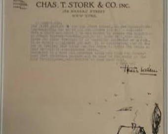 Hendrik Willem Van Loon Signed Letter on Illustrated Letterhead