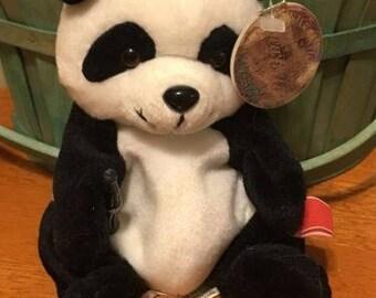 Coca-Cola Bean Bag Plush Zongshi the Panda Bear representing China