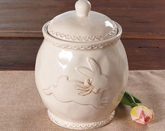 Ceramic Cookie Jar, Easter Bunny, Bunny
