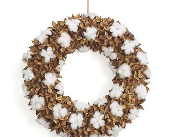 Country Cotton Wreath