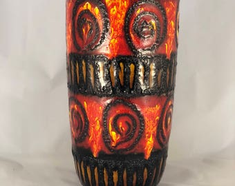 Beautiful West German Fat Lava vase Scheurich 517-45