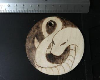 Wooden Snake Medallion