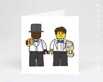Lego Gay wedding archival card