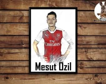 Mesut Ozil print wall art home decor poster