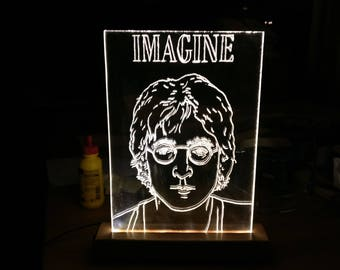 Handmade imagine John Lennon lamp--One in the world!