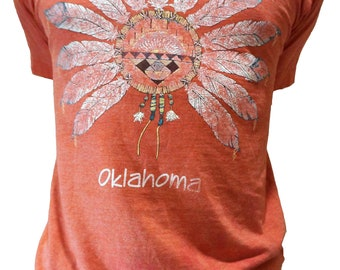 "Vintage 1980's Screen Stars Best ""Oklahoma"" Large T-Shirt"