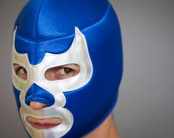 Mask blue demon, mexican wrestling mask, lucha libre mexico,